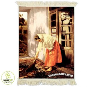 تابلو فرش دختر روستایی