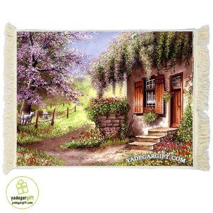 تابلو فرش خانه در باغ کد 1029