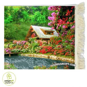 تابلو فرش ماشینی منظره خانه رویایی کد 1030