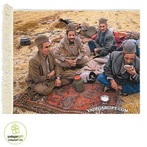 تابلو فرش ماشینی زندگی عشایر کد 1038