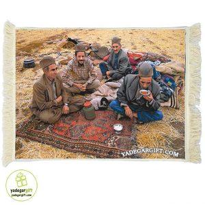 تابلو فرش زندگی عشایر کد 1038