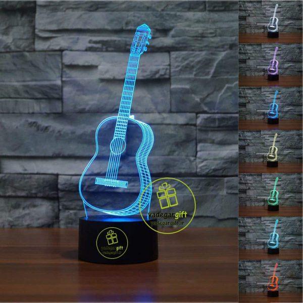 چراغ خواب سه بعدی بالبینگ طرح گیتار